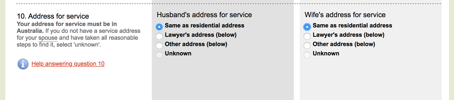 Address for service - commonwealth courts portal