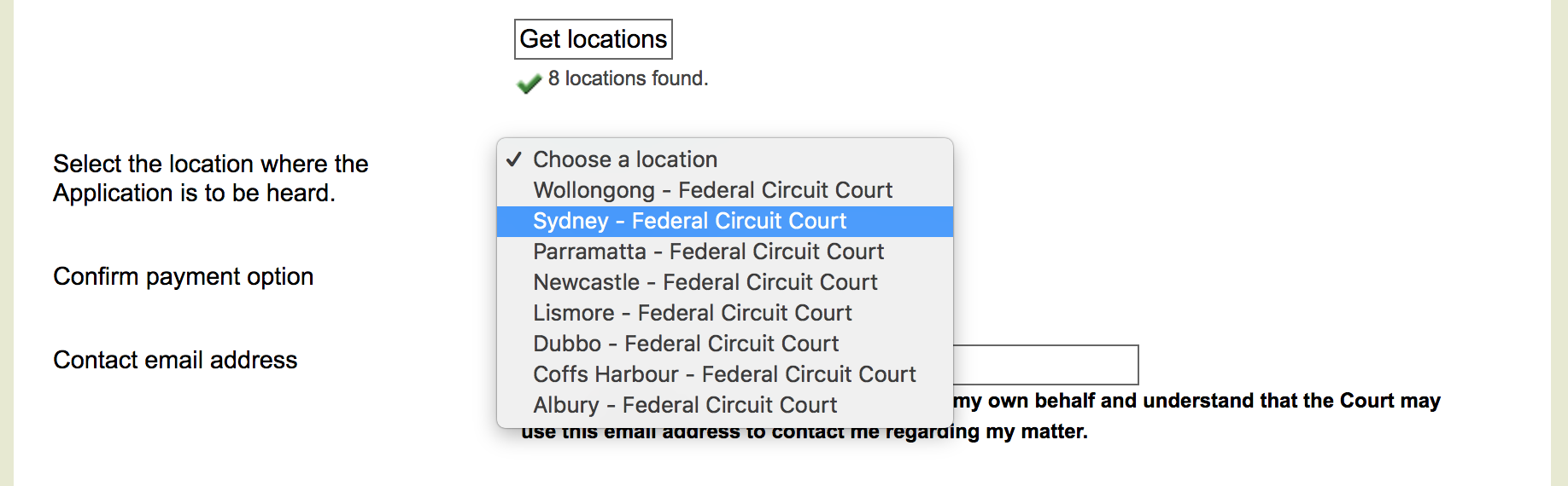 Select court location - commonwealth courts portal