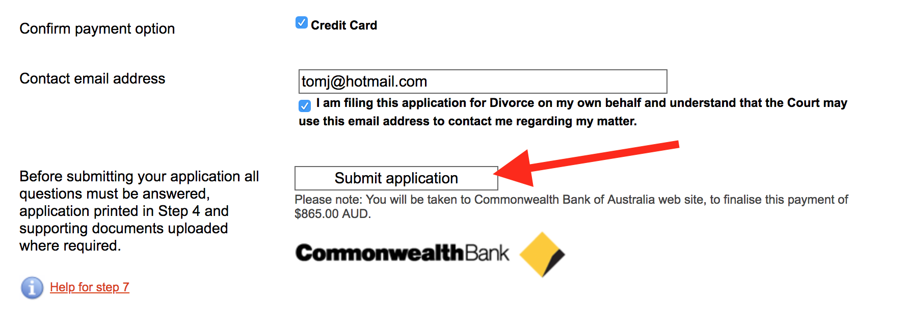 Submit application - commonwealth courts portal