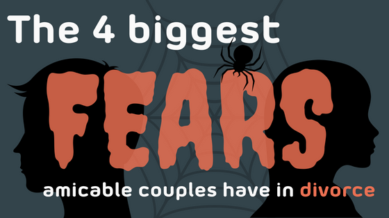 Fears title image featuring silhouettes of a man, spider, and woman